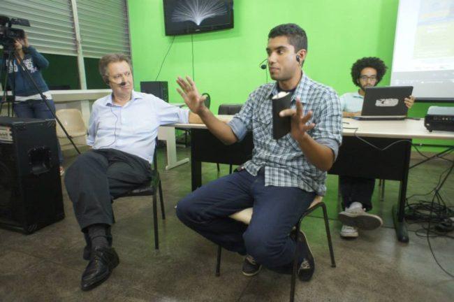 Mauro Osório, da FND-UFRJ, e Henrique Silveira, geógrafo e ex-coordenador da UPP Social